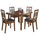 Cimeran 5-Piece Rectangular Dining Table Set in Medium Brown