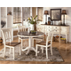 Whitesburg 5-Piece Round Dining Table Set in Brown - White
