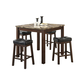 Coaster Sofie 5-Piece Counter Height Dining Set