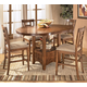 Cross Island 5-Piece Counter Height Extension Dining Table Set