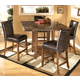 Lacey 5-Piece Square Counter Height Dining Set