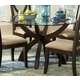 Homelegance Stardust Round Dining Table in Espresso 5312