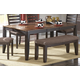 Homelegance Natick Dining Table in Warm Espresso/Light Brown 5341-72