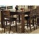Homelegance Eagleville Counter Height Table in Warm Brown Cherry 5346-36
