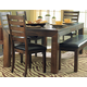 Homelegance Eagleville Dining Table in Warm Brown Cherry 5346-82
