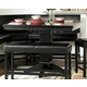 Homelegance Papario Counter Height Table in Black 5351-36