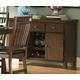 Homelegance Everett Server in Medium Oak 5381-40