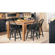 Broyhill Attic Heirlooms 7pc Counter Height Dining Table Set in Natural Oak Stain and Antique Black 5397BCDR