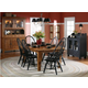 Broyhill Attic Heirlooms 7pc Formal Dining Room in Natural Oak Stain and Antique Black 5397BDR