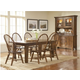 Broyhill Attic Heirlooms 7pc Formal Dining Room in Natural Oak Stain 5397DR