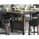 Homelegance Bayshore Counter Height Table in Medium Walnut 5447-36XL