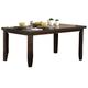 Homelegance Ameillia Rectangular Dining Table in Dark Oak 586