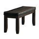 Homelegance Ameillia Bench in Dark Oak 586-13