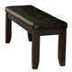 Homelegance Ameillia Bench in Dark Oak 586-14