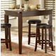 Homelegance Ameillia Triangular Counter Height Table in Dark Oak 586-32