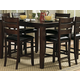 Homelegance Ameillia Rectangular Counter Height Table in Dark Oak 586-36
