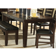 Homelegance Ameillia Rectangular Extension Dining Table in Dark Oak 586-82
