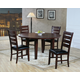 Homelegance Ameillia 5pc Dining Table Set in Dark Oak