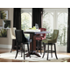 Homelegance Annabelle 5pc Pub Height Table Set in Walnut