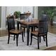 Homelegance Liz 5pc Dining Table Set in Antique Black