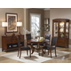 Homelegance Avalon 5pc Round Dining Table Set in Cherry