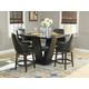 Homelegance Bayshore 5pc Counter Height Table Set in Medium Walnut