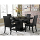 Homelegance Cicero 5pc Dining Table in Black