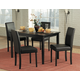 Homelegance Dover 5pc Dining Table Set in Black