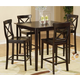 Homelegance Blossom Hill 5pc Counter Height Table Set in Dark Espresso