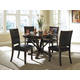 Homelegance Helena 5pc Dining Table Set in Deep Cherry