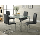 Homelegance Knox 5pc Dining Table Set in Chrome