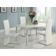 Homelegance Clarice 5pc Dining Table Set in White