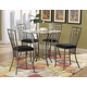 Homelegance Flight 5pc Counter Height Table Set in Dark Grey