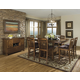 Homelegance Marcel 5pc Counter Height Table Set in Warm Oak