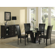 Homelegance Daisy 5pc Round Dining Table Set in Espresso