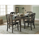 Homelegance Merritt 5pc Dining Table Set in Dark Oak