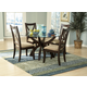 Homelegance Stardust 5pc Round Dining Table Set in Espresso