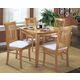 Homelegance Liz 5pc Dining Table Set in Natural