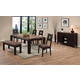 Acme Zenda 6-pc Rectangular Dining Set in Brown
