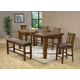 Acme Morrison 6-pc Counter Height Dining Set in Dark Oak