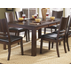 Homelegance Neely Dining Table in Dark Brown Cherry 638