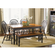 Liberty Furniture Low Country 6pc Rectangular Leg Table Set in Anchor Black with Suntan Bronze Finish 80-T3