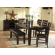 Homelegance Ameillia 6pc Rectangular Extension Dining Table Set in Dark Oak