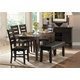 Homelegance Ameillia 6pc Oval Dining Table Set in Dark Oak