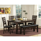 Homelegance Ameillia 6pc Rectangular Dining Table Set in Dark Oak