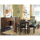 Homelegance Eagleville 6pc Dining Table Set in Warm Brown Cherry