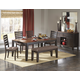 Homelegance Natick 6pc Dining Table in Warm Espresso/Light Brown