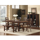 Homelegance Clayton 6pc Dining Table Set in Dark Oak