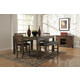 Homelegance Kirtland 6pc Counter Height Table Set in Warm Oak