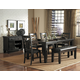 Homelegance Hawn 6pc Dining Table Set in Walnut